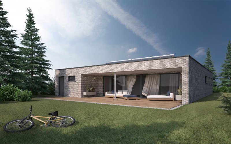 Moderne laagbouw woning te mol awb bouwgroep for Moderne laagbouw woningen